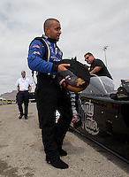 Mar 29, 2014; Las Vegas, NV, USA; NHRA top fuel driver J.R. Todd during qualifying for the Summitracing.com Nationals at The Strip at Las Vegas Motor Speedway. Mandatory Credit: Mark J. Rebilas-USA TODAY Sports