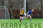 Liebherr's  Jamie Doolin sets up another attack against Intel in the All Ireland Inter Firm final in Fossa on Saturday