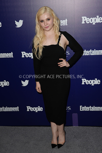 WWW.ACEPIXS.COM<br /> May 11, 2015 New York City<br /> <br /> Abigail Breslin attending the Entertainment Weekly and People celebration of The New York Upfronts at The Highline Hotel onMay 11, 2015 in New York City.<br /> <br /> Please byline: Kristin Callahan/AcePictures<br /> <br /> Tel: (646) 769 0430<br /> e-mail: info@acepixs.com<br /> web: http://www.acepixs.com