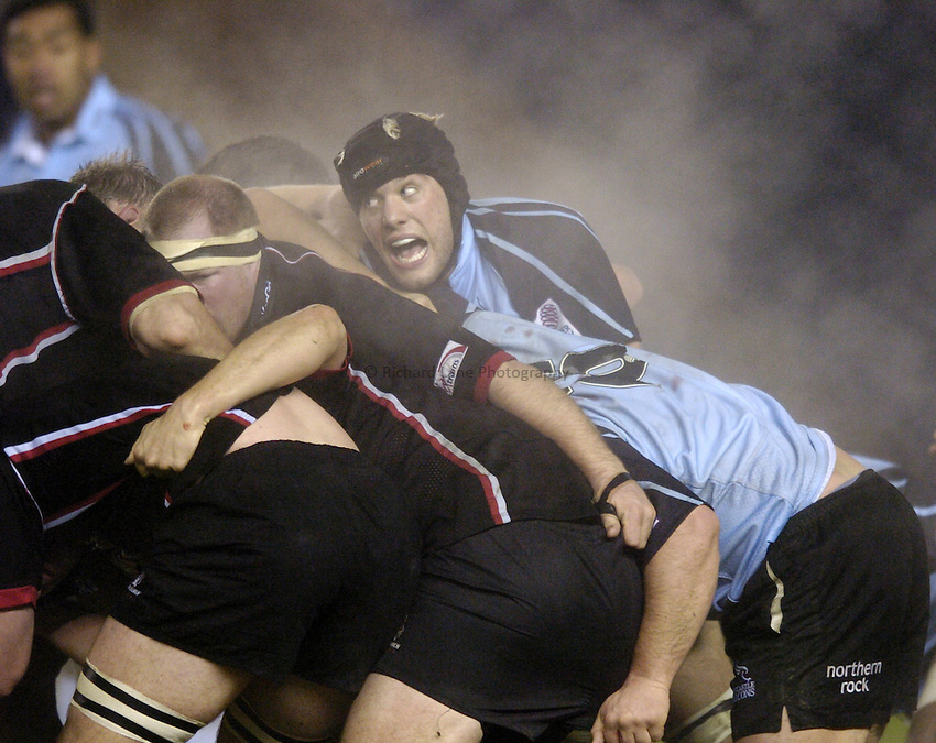 Photo. Jed Wee..Edinburgh Rugby v Newcastle Falcons , Heineken Cup, 11/12/2004..Newcastle's Andy Buist.