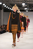 Collection by Jil Melina Zimmermann of Istituto Marangoni. Graduate Fashion Week 2014, Runway Show at the Old Truman Brewery in London, United Kingdom. Photo credit: Bettina Strenske