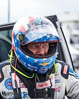 Feb 9, 2020; Pomona, CA, USA; NHRA funny car driver John Force during the Winternationals at Auto Club Raceway at Pomona. Mandatory Credit: Mark J. Rebilas-USA TODAY Sports