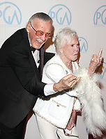 ^^^FILE PHOTO*** STAN LEE SUES FORMER COMPANY FOR ONE BILLION DOLLARS IN ALLEGED FRAUDULENT SALES AGREEMENT<br /> Stan Lee and Joan B. Lee at the 23rd annual Producers Guild Awards at The Beverly Hilton hotel on January 21, 2012 in Beverly Hills, California.  <br /> CAP/MPI27<br /> &copy;MPI27/Capital Pictures
