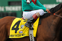 Went the Day Well with John Velazquez up and trained by Graham Motion ,in the post parade for the G3 Vinery Spiral Stakes at Turfway Park in Florence, Kentucky Saturday March 24, 2012.