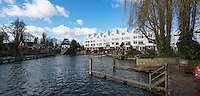 BNPS.co.uk (01202 558833)<br /> Pic: PhilYeomans/BNPS<br /> <br /> The Mill at great Marlow Lock is no longer standing today.<br /> <br /> 'Old man river, he just keeps rollin' - A remarkable collection of panoramic photographs of the Thames taken 160 years ago have emerged for auction, and they reveal how little the famous old river has changed in the last century and a half.<br /> <br /> They follow the river from London to Oxford in 40 photographs providing a fascinating insight into how the famous river looked in the mid-19th century.<br /> <br /> Londoner Victor Prout started photographing the Thames in 1857 using a camera which would produce wide-vision images because of a lens that swung round and 'scanned' sections of the picture.<br /> <br /> This rare complete copy of the first edition of Prout's pioneering panoramics has emerged for auction and is tipped to sell for &pound;12,000 when they go under the hammer at Bonhams on March 1.