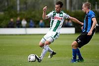 GRONINGEN - Voetbal, FC Groningen O23 - ACV, derde divisie, seizoen 2017-2018, 16-09-2017, FC Groningen speler Michael Breij met ACV speler Haaye Feenstra