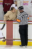 Kiera Kingston (BC - 32), Katie King (BC - Head Coach) - The University of Vermont Catamounts defeated the Boston College Eagles 5-1 on Saturday, November 7, 2009, at Conte Forum in Chestnut Hill, Massachusetts.