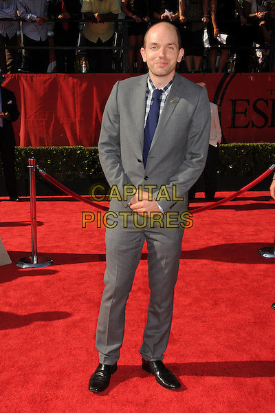 Paul Scheer.2011 ESPY Awards - Arrivals held at Nokia Theatre L.A. Live, Los Angeles, California, USA..July 13th, 2011.full length suit white blue tie gingham shirt  .CAP/ADM/BP.©Byron Purvis/AdMedia/Capital Pictures.