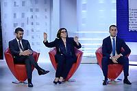 Roma, 23 Maggio 2019<br /> Luigi Di Maio, Riccardo Fraccaro , Elisabetta Trenta.<br /> il Movimento 5 Stelle a L'Aria Che Tira