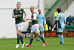 Hibs v St Johnstone...25.08.12   SPL.Paul Hanlon celebrates his goal.Picture by Graeme Hart..Copyright Perthshire Picture Agency.Tel: 01738 623350  Mobile: 07990 594431