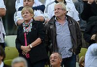 FUSSBALL  EUROPAMEISTERSCHAFT 2012   VIERTELFINALE Deutschland - Griechenland     22.06.2012 Mutter Luise Schuerrle und Vater Joachim Schuerrle (v.l.) zu Gast auf der Vip Tribuene