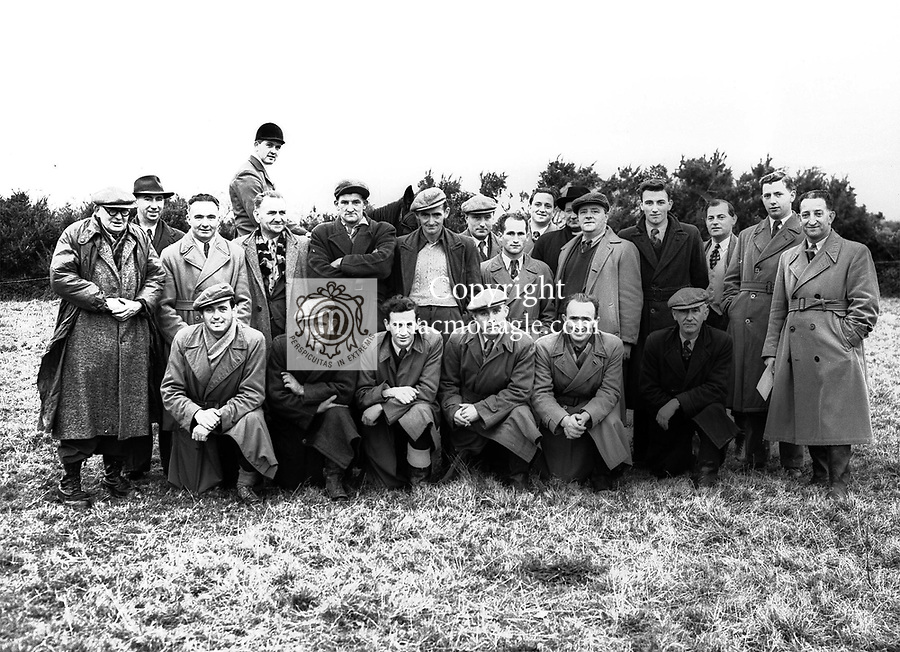 A coursing committee in the 1950's..Photo by Harry MacMonagle..from the MacMonagle, Killarney photo archive.www.macmonagle.com