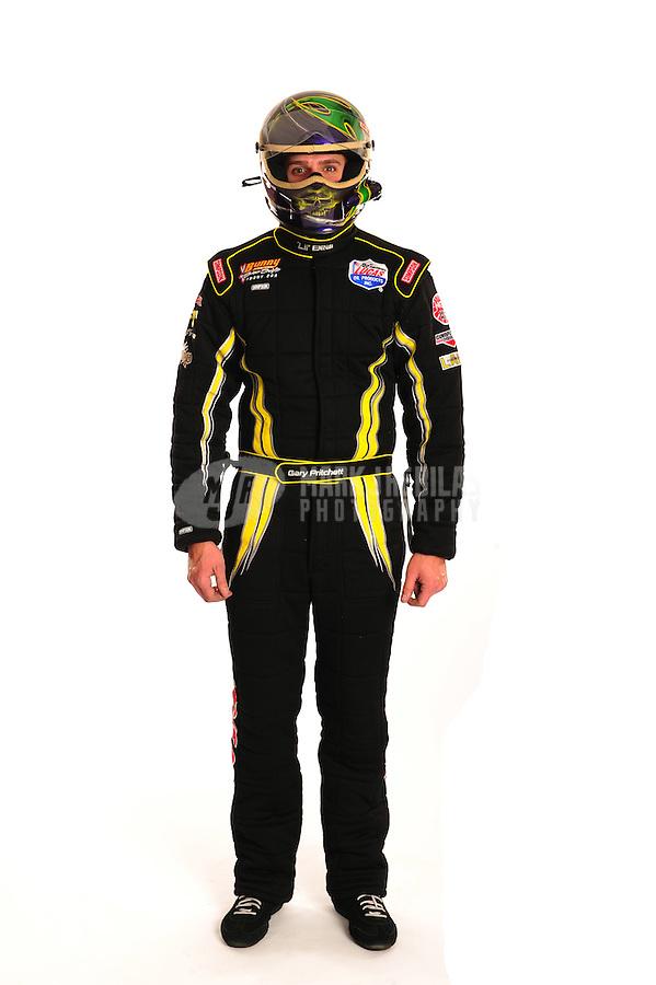Jan. 19, 2012; Jupiter, FL, USA: Gary Pritchett poses for portraits during testing at the PRO Winter Warmup at Palm Beach International Raceway. Mandatory Credit: Mark J. Rebilas-