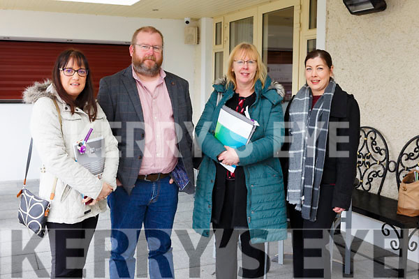 Lisa Dowling (Denis Dowling and Construction Services LTD), Ger McElligott (D Mac Health Care Training Consultancy), Sheila Evans (NEWKD) and Elaine Ahern (Killarney Oaks Hotel) attending the Employment Law & BeSmart.ie Seminar 2018 run by the Kerry Local Enterprise Office and HR Suite in the Ballygarry House Hotel on Monday last.