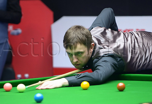 26.03.2013 Beijing, China. Shaun Murphy of England defeats Andrew Higginson of England 5:3 during Day 1 of the Snooker China Open.