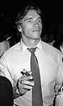 Arnold Schwarzenegger .Attending a party at STUDIO 54 in.New York City..September 1982