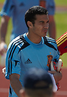 EURO 2012 - POLAND - Gniewino - 13 JUNE 2012 - Spain National Team official MD-1 training. Spanish players Pedro Rodriguez at the end of the training session.