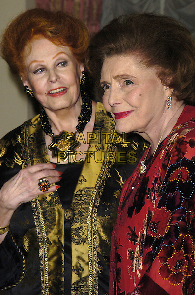 ARLENE DAHL & PATRICIA NEAL .The Academy of Motion Picture Arts & Sciences' Official New York Oscar Night Celebration at the St. Regis Hotel, New York, New York, USA..February 21st, 2007.half length black  yellow red necklace .CAP/ADM/BL.©Bill Lyons/AdMedia/Capital Pictures *** Local Caption ***