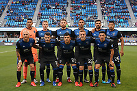 SAN JOSE, CA - MARCH 7: San Jose Earthquakes  Starting Eleven during a game between Minnesota United FC and San Jose Earthquakes at Earthquakes Stadium on March 7, 2020 in San Jose, California.