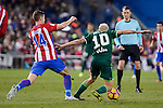 "Atletico de Madrid's Gabriel ""Gabi"" Fernández and Real Betis's Dani Ceballos during La Liga match between Atletico de Madrid and Real Betis at Vicente Calderon Stadium in Madrid, Spain. January 14, 2017. (ALTERPHOTOS/BorjaB.Hojas)"