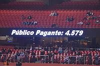 SÃO PAULO, SP, 10 DE JULHO DE 2013 - CAMPEONATO BRASILEIRO - SÃO PAULO x BAHIA: Publico Pagante durante São Paulo x Bahia, partida antecipada válida pela 11ª rodada do Campeonato Brasileiro de 2013, disputada no estádio do Morumbi em São Paulo. FOTO: LEVI BIANCO - BRAZIL PHOTO PRESS.