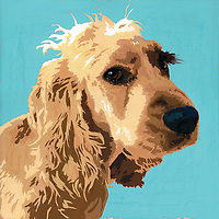 Painting of Cocker Spaniel dog