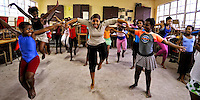 """Mama """"Hope"""" teaches Ballett in the Townships. Gugulethu, Cape Town, SA 2009"""