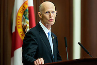 TALLAHASSEE, FLA. 3/5/13-OPENING030513CH-Gov. Rick Scott delivers the State of the State address during the opening day of the 2013 legislative session Tuesday at the Capitol in Tallahassee, Fla...COLIN HACKLEY PHOTO