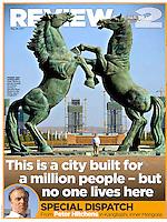 Explore deserted cities, Kangbashi, Inner Mongolia, Review Mail on Sunday, 29 May 2011. ©Lou Linwei/Sinopix