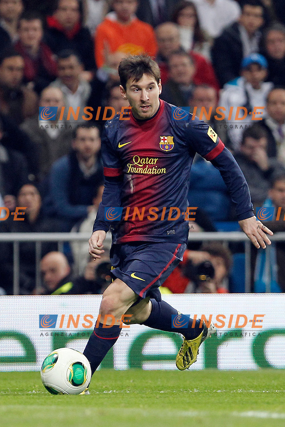 Real Madrid v Barcelona during King's Cup match, in the pic: Lionel Messi. January 30, 2013. (ALTERPHOTOS/Caro Marin) .Madrid 30/1/2013 Stadio Santiago Bernabeu .Football Calcio 2012/2013.Coppa del Re - Kings Cup Spagna.Foto Alterphotos / Insidefoto .ITALY ONLY