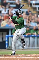 Savannah Sand Gnats third baseman Jhoan Urena #31 swings at a pitch during a game against the Asheville Tourists at McCormick Field September 3, 2014 in Asheville, North Carolina. The Tourists defeated the Sand Gnats 8-3. (Tony Farlow/Four Seam Images)