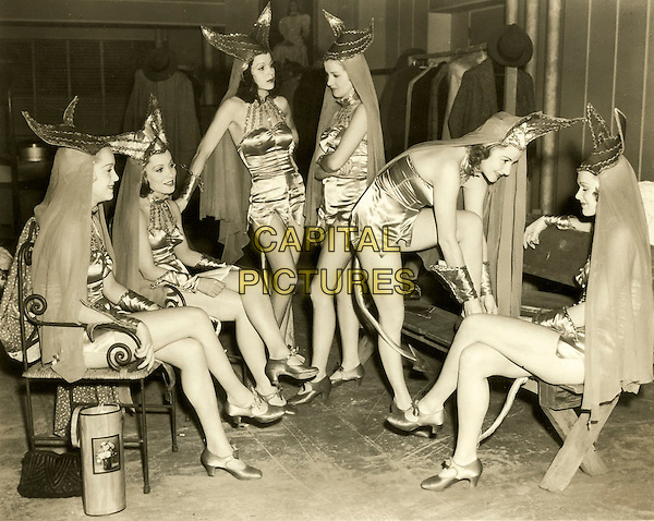 CHORUS GIRLS, Circa 1940s-Devil Chorus Girls.*Filmstill - Editorial Use Only*.CAP/PLF.Supplied by Capital Pictures.