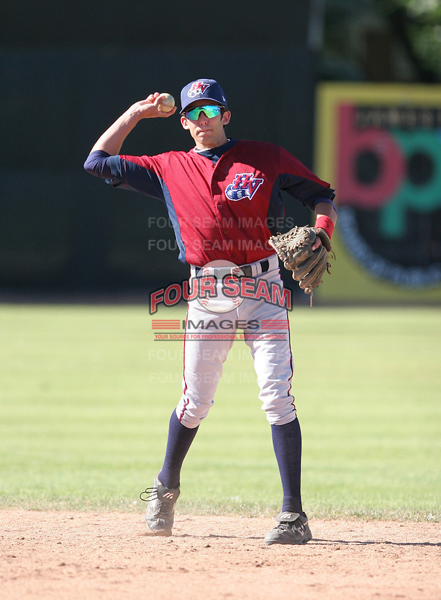 Brad Matthews of the Hudson Valley Renegades, Class-A affiliate of the Tampa Bay Devil Rays, during New York-Penn League baseball action.  Photo by Mike Janes/Four Seam Images