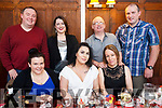Birthday celebrations as Laura O'Connor celebrates with friends in the Denny Lane restaurant, tralee on thursday with last.<br /> Seated l-r, Anita McGinty, Laura O'Connor (Birthday girl) and Fildelma McGinty.<br /> Back l-r Michael Milner, Mary Conway, Mike McDonald and Donal O'Connor.