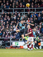 Luke O'Nien of Wycombe Wanderers during the Sky Bet League 2 match between Northampton Town and Wycombe Wanderers at Sixfields Stadium, Northampton, England on the 20th February 2016. Photo by Liam McAvoy.