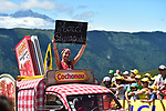 The race arrives at Peyragudes during Stage 12 of the 104th edition of the Tour de France 2017, running 214.5km from Pau to Peyragudes, France. 13th July 2017.<br /> Picture: ASO/Pauline Ballet | Cyclefile<br /> <br /> <br /> All photos usage must carry mandatory copyright credit (&copy; Cyclefile | ASO/Pauline Ballet)