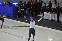SPEEDSKATING: CALGARY: 15-11-2015, Olympic Oval, ISU World Cup, Mass Start Men, winner Bart Swings (BEL), ©foto Martin de Jong