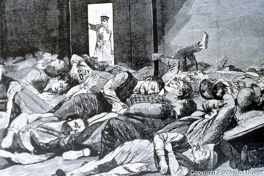 New York:  Station House Lodgers, 1874.  Winslow Homer, at 17th Precinct Station House.  Photo '7.