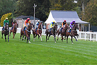 The start of The Racing TV Handicap Stakes during Horse Racing at Salisbury Racecourse on 11th September 2020