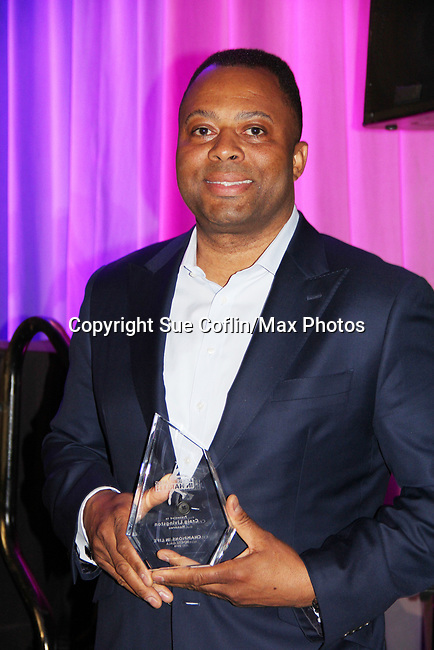 Honoree Craig Livilngston with award - Figure Skating in Harlem presents Champions in Life Benefit Gala on April 29, 2019 at Chelsea Pier, New York City, New York - (Photo by Sue Coflin/Max Photos)