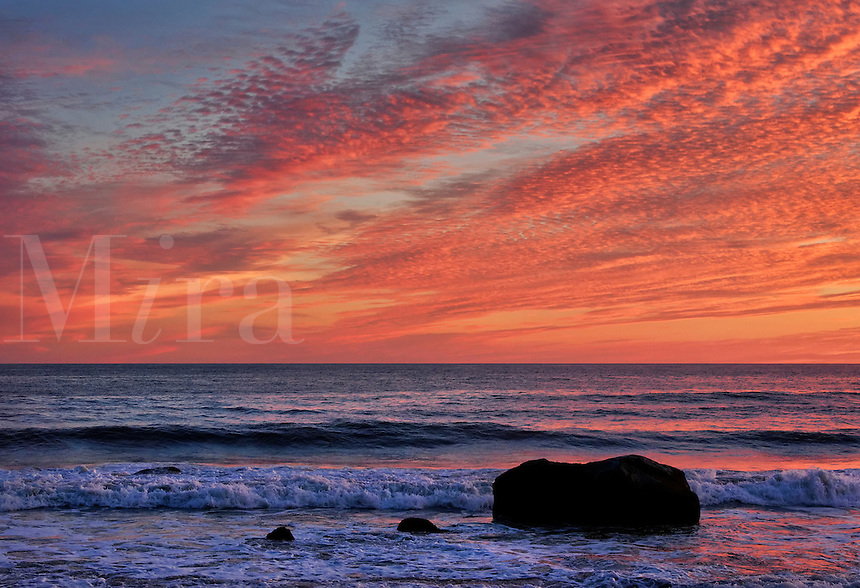 Ocen sunset, Gay Head, Aquinnah, Martha's Vineyard, Massachusetts, USA