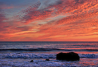 Ocen sunset, Gay Head, Aquinnah, Martha's Vineyard, Massachusetts, USA