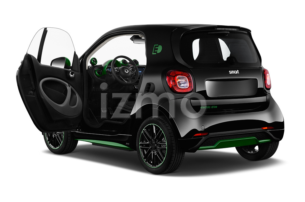Car images close up view of a 2018 Smart fortwo Greenflash 3 Door Hatchback doors