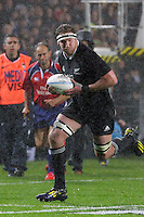 Kieran Read during a wet game in Hamilton, 2013 Rugby Championship - All Blacks v Argentina at Waikato Stadium, Hamilton, New Zealand on Saturday, 7th September   2013. Copyright Dion Mellow Photography. Credit DMP / Dion Mellow
