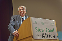 Giuliano Pisapia during the Slow Food Foundation for Biodiversity a thousand gardens in Africa in February 17, 2014. Photo: Adamo Di Loreto/BuenaVista*photo