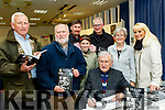 John Cleary, seated, launched and signed his new book, Tralee in the good old days, last Tuesday evening, Nov 19, at Tralee library, back L-R Tommy King and Enda O'Brien with Richard, Lauren, Martin, Eilish and Jennifer Cleary.