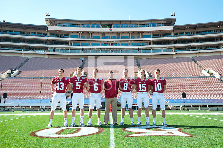PASADENA, CA--Stanford Cardinal Team Photo at the Rose Bowl, Pasadena, CA.