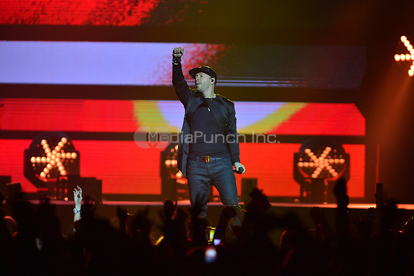HOLLYWOOD, FL - JULY 16: Donnie Wahlberg of New Kids On The Block performs during The Total Package Tour at Hard Rock Live at Seminole Hard Rock Hotel & Casino – Hollywood on July 16, 2017 in Miami, Florida. Credit: MPI10 / MediaPunch