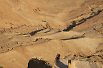 Israel, Judean desert, Masada, a view from the Northern Palace