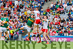 David Moran, Kerry in action against Richard Donnelly, Tyrone during the All Ireland Senior Football Semi Final between Kerry and Tyrone at Croke Park, Dublin on Sunday.